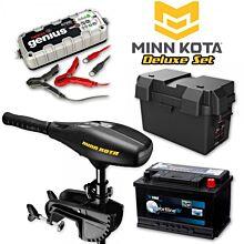 Minn Kota Endura C2 34lb Deluxe Elektromotor Set met accu en lader