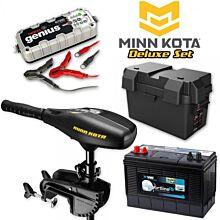 Minn Kota Endura C2 55lb Deluxe Elektromotor Set met accu en lader