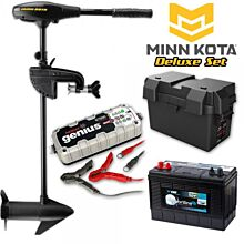 Minn Kota Endura Max 45lb Deluxe Elektromotor Set met accu en lader