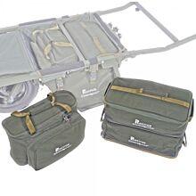 Carp Porter Set Of 3 Green Modular Food/Bait/Tackle Bags