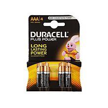 Duracell 1.5V AAA 4 stuks
