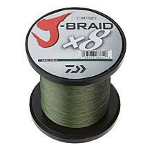 Daiwa J-Braid Dark Green 8x gevlochten lijn per meter