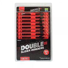 Preston Double Slider Winders 18cm Red
