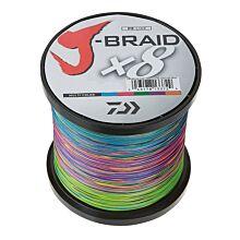 Daiwa J-Braid Multicolor 8x gevlochten lijn per meter